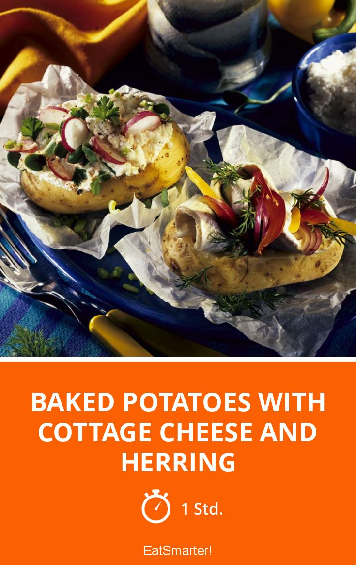 Wondrous Baked Potatoes With Cottage Cheese And Herring Interior Design Ideas Gentotryabchikinfo