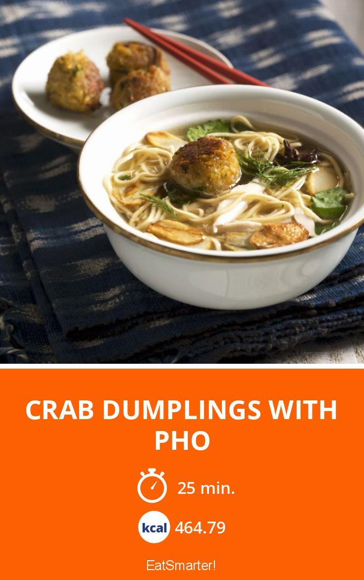 Crab Dumplings with Pho